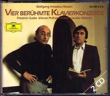 Friedrich GULDA: MOZART Piano Concerto 20 21 25 27 ABBADO 2CD Klavierkonzerte DG