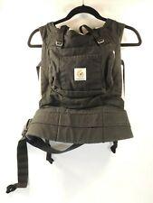 ErgoBaby Baby Kids Toddler Black Tan Carrier Holder Harness Lumbar Support Sling