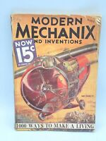 Vintage MODERN MECHANIX and INVENTIONS. Saunders Cover 1933 March