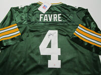 BRETT FAVRE / HALL OF FAME / AUTOGRAPHED GREEN BAY PACKERS THROWBACK JERSEY COA