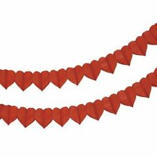 4m Red Love Heart Bunting Garland Decoration Valentines Day Wedding Party Banner