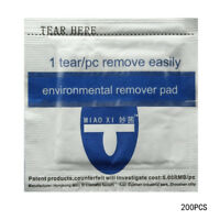 Hot 200pcs Remover Wraps For UV Gel Polish Acetone Pad Foil Nail Art Cleaner EX