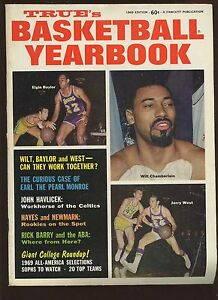 1969 True Basketball Yearbook With Wilt Chamberlain Cover EX