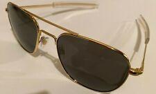 55mm Gold Frames American Optical AO Pilot Sunglasses