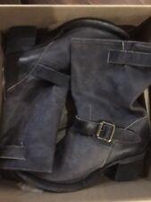 FREEBIRD by Steven Boulder  Biker Boots Grey/BK Size 6 NIB MSRP$345.