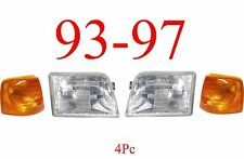 93 97 Ford Ranger 4Pc Head & Side Light Kit, 2WD, 4WD, Complete Assemblies!