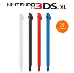 for Nintendo 3DS XL - 4 Pack of Coloured Plastic Drawing Stylus Touch Pens | FPC