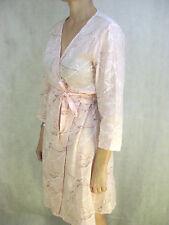 Jiva Size 2 10 12 Pale Pink Designer Wrap Dress