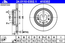 Bremsscheibe (2 Stück) - ATE 24.0110-0302.1