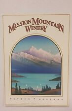 Monte Dolack Print Mission Mountain Winery, Signed