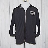 Disney Parks XL Blk Fleece Full Zip Embroidered Mickey Disneyland Resort Jacket