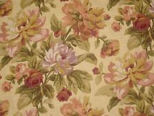 Mill Creek Raymond Waites CLAUDETTE TEASTAIN Floral Drapery Sewing Fabric BTY