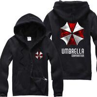 Men's Resident Evil Hoodie Jacket Umbrella Corporation Coat Jumper Sweatshirt