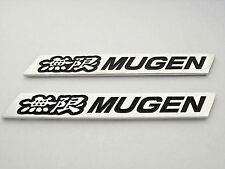For Honda Mugen Spoiler Emblems Black Sticker badge sticker decal RSX JDM New