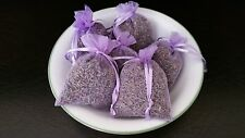 Set of 6 Natural French Lavender Buds Sachets Lavender Organza Bags