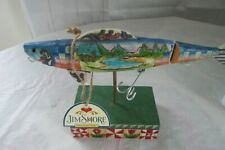 """Jim Shore Heartwood Creek Enesco - """"The Lure of the Great Outdoors"""" Fish W/ Hook"""