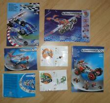 MECCANO - lot de 7 x manuel notice instructions de 2009 a 2014