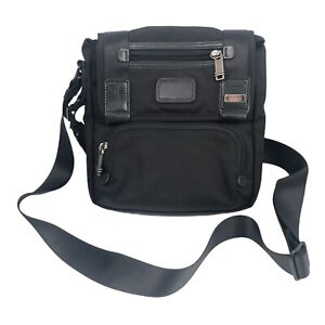 Tumi Alpha Bravo Barstow Nylon Cross Body Black Messenger Bag 22306DH
