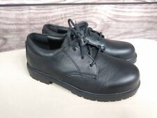Stride Rite JAMES Black LEATHER Dress Shoes Laces Youth Boys Size 1 1/2 M EU 33