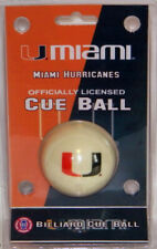 NEW! NCAA Wave 7 Miami Hurricanes Licensed Collector Series Cue Ball -Billiard
