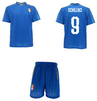 Complet Officiel Italie Schillaci Maillot + Short Figc Toto' 9