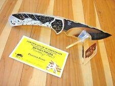 CUSTOM MICHAEL PRATER BUCK 113 EGSLE SKINNER RANGER KNIFE PAINTED PONY EGGSHELL