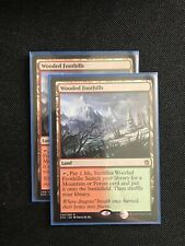 Wooded Foothills - Khans of Tarkir - 2X NM MTG FetchLand Green Red Mint