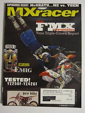 April 2001 MXracer Magazine motocross moto x dirt bike racer racing action
