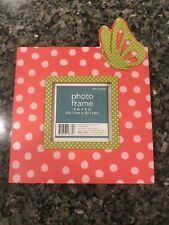 Target Frame 4 x 4 Pink Glass and Wood Photo Frame - New