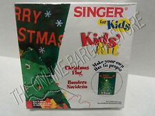 Singer Kids Children Holiday Christmas Tree Make Your Own Flag Kit Sewing Craft