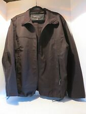 Mens North End L Black Waterproof Lined Full Zipper & Collared Jacket