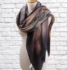 4fab9ab086 Large Pashmina Shawl Wrap Peach and Taupe Winter Weight Brushed Fabric  Oversize.