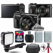 Canon PowerShot G7 X Digital 20.1MP DIGIC 7 Camera + EXT BAT + LED - 32GB Kit