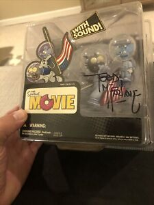 The Simpsons Figure Itchy & Scratchy Presidential SIGNED Todd McFarlane, JSA COA