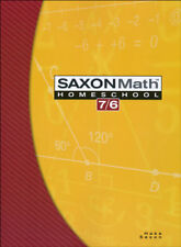 Saxon Math 7/6 Homeschool by Saxon Publishers Staff and Stephen Hake -2005 Paper