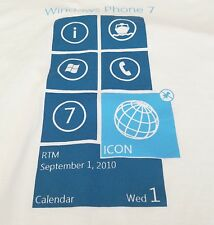 Windows Phone 7 T-Shirt White Mens Size 2XL RTM Microsoft Launch Date 09/01/2010