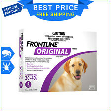 FRONTLINE ORIGINAL Purple Pack For Dogs 20 to 40 Kg 4 Pipettes Flea Tick Control