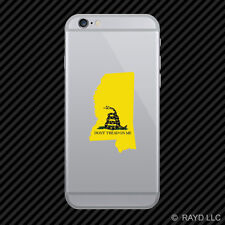 Mississippi State Shaped Gadsden Flag Cell Phone Sticker Mobile MS
