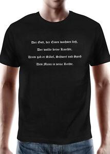 Battle Merchant T-Shirt Schwertkämpfer Kurzarm Rundhals Schwarz S-XXL