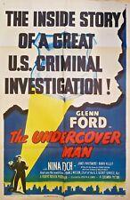 THE UNDERCOVER MAN (1949) GLENN FORD NOIR CLASSIC * ORIG 27X41 1-SHEET POSTER!