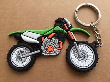 New Kawasaki MotoCross OFFRoad Motorcycle keychain Rubber. As Picture
