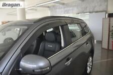 To Fit 2012+ Mitsubishi Outlander Smoke Tinted Window Wind Deflectors - Adhesive