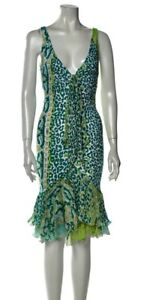 Roberto Cavalli Dress with scarf size small 38 nwot retails for $1950