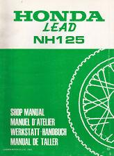 Honda NH125 Lead Scooter 1983 Shop Manual
