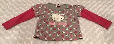 Hello Kitty Baby Girl Top Shirt Size 18-24 Months In Euc (Bin Ae)