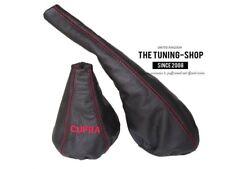 "For Seat Ibiza Cordoba 1993-99 Gear & Handbrake Gaiter Leather ""CUPRA"" Red Logo"