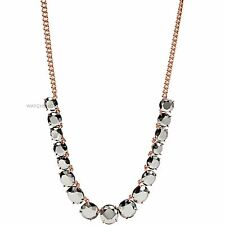 Plated Faceted Stone Fashion Necklace £60 Ja6235791 New Fossil Ladies Pvd Gold