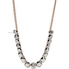 JA6235791 NUOVA Fossil Donna PVD Oro Placcato Sfaccettato Pietra Fashion Collana £ 60