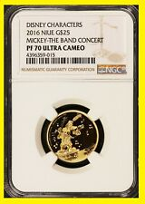 2016 Disney Character $25 1/4 oz Gold The Band Concert NGC PF 70 UC