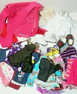 "Lot of 18"" Clothes including American Girl and OG w/ Skateboard Shoes More"